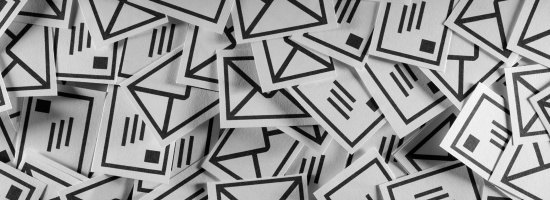 A pile of email icons